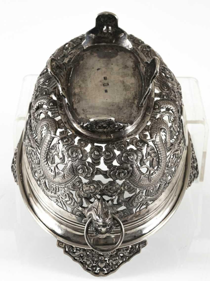Пробит кованая чаша из серебра с драконом Декор и Voalkartuschen - фото 3