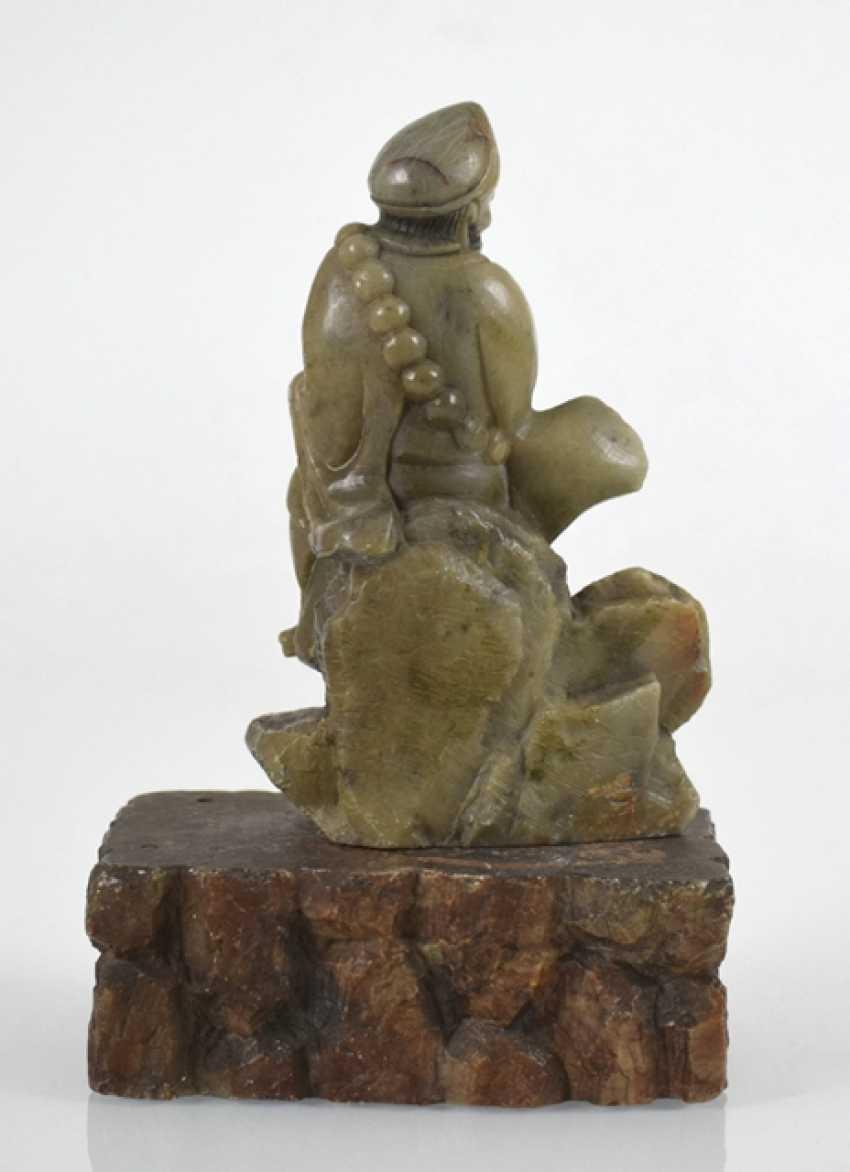 Soapstone carving of Bodhidharma - photo 2