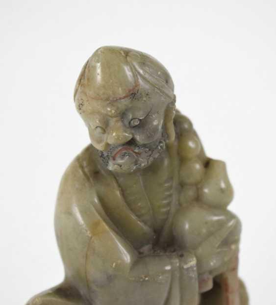 Soapstone carving of Bodhidharma - photo 4
