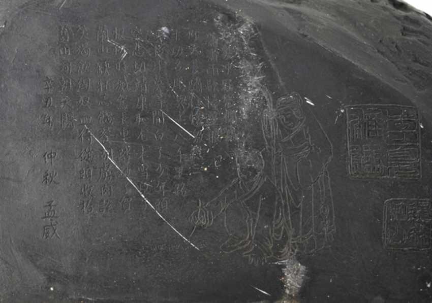 Tuschreibestein with water Buffalo decor - photo 4