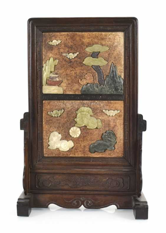Table control screen with stone inlays in the Form of Fo lions - photo 1