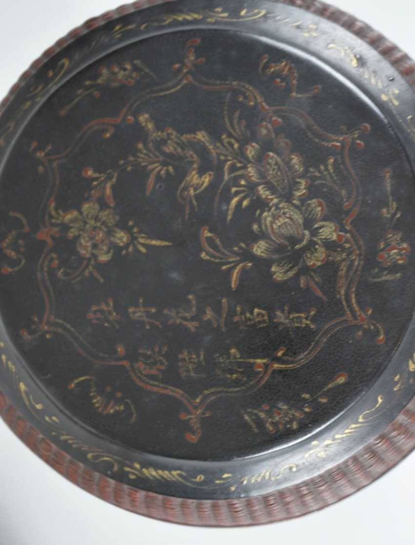 Three lid cans of paint, some with braid and decor in addition to inscription - photo 3