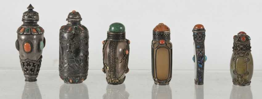 Six silver and silver ornaments Snuffbottles - photo 2