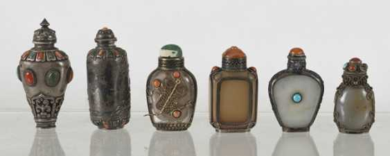 Six silver and silver ornaments Snuffbottles - photo 3