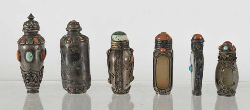 Six silver and silver ornaments Snuffbottles - photo 4