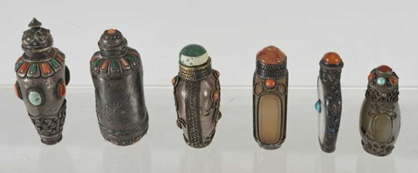 Six silver and silver ornaments Snuffbottles - photo 5