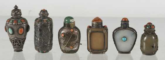 Six silver and silver ornaments Snuffbottles - photo 6