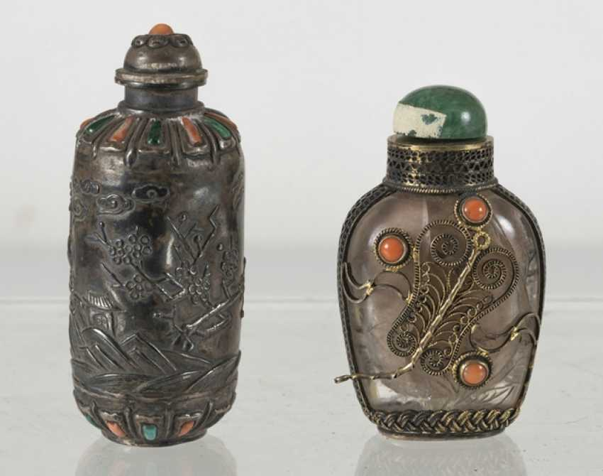 Six silver and silver ornaments Snuffbottles - photo 7