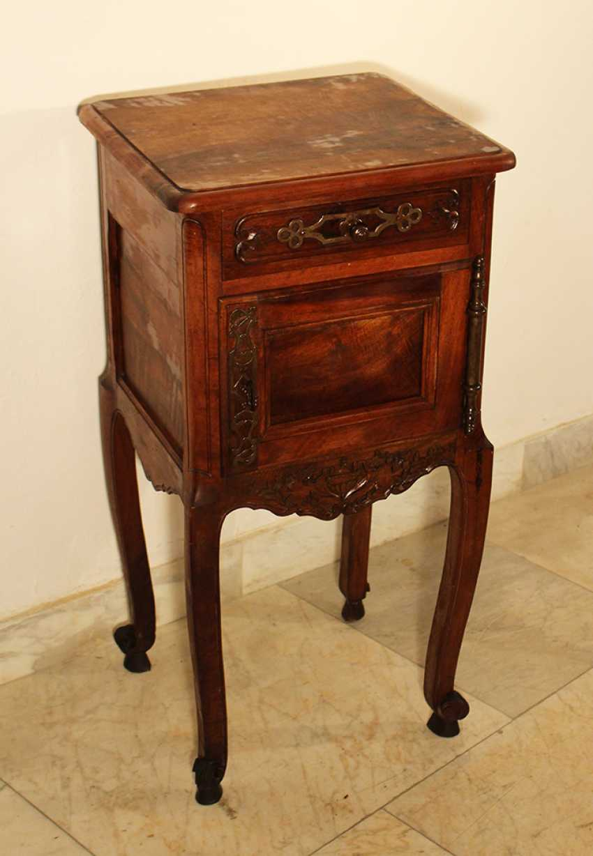 A French Provencal small chest on four high shaped legs with scroll endings - photo 1