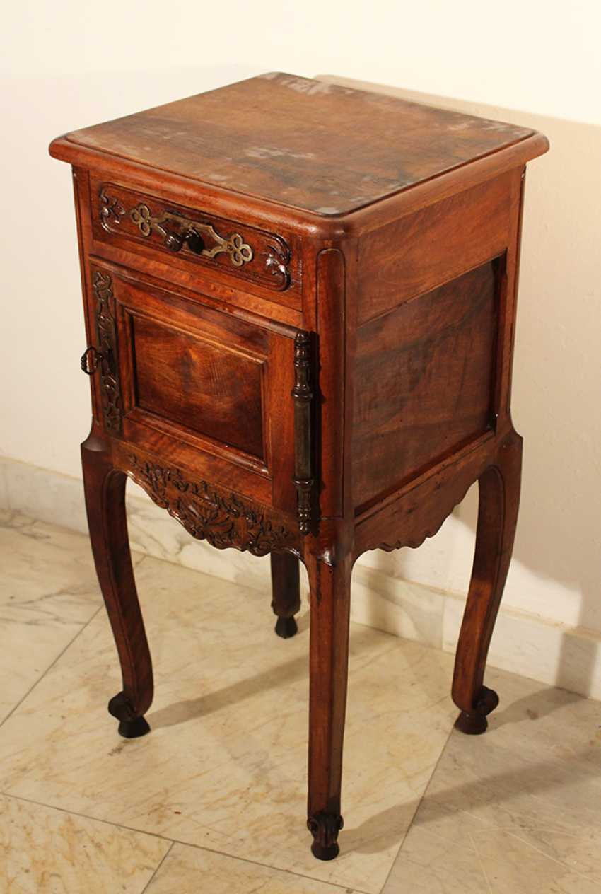 A French Provencal small chest on four high shaped legs with scroll endings - photo 2