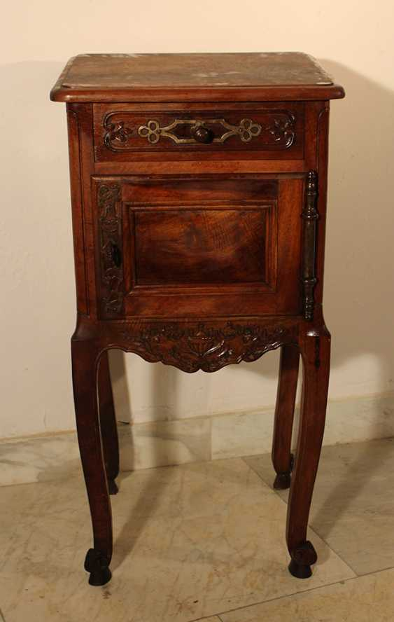 A French Provencal small chest on four high shaped legs with scroll endings - photo 3