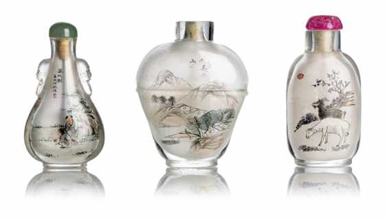 Three Snuffbottles with interior painting - photo 1