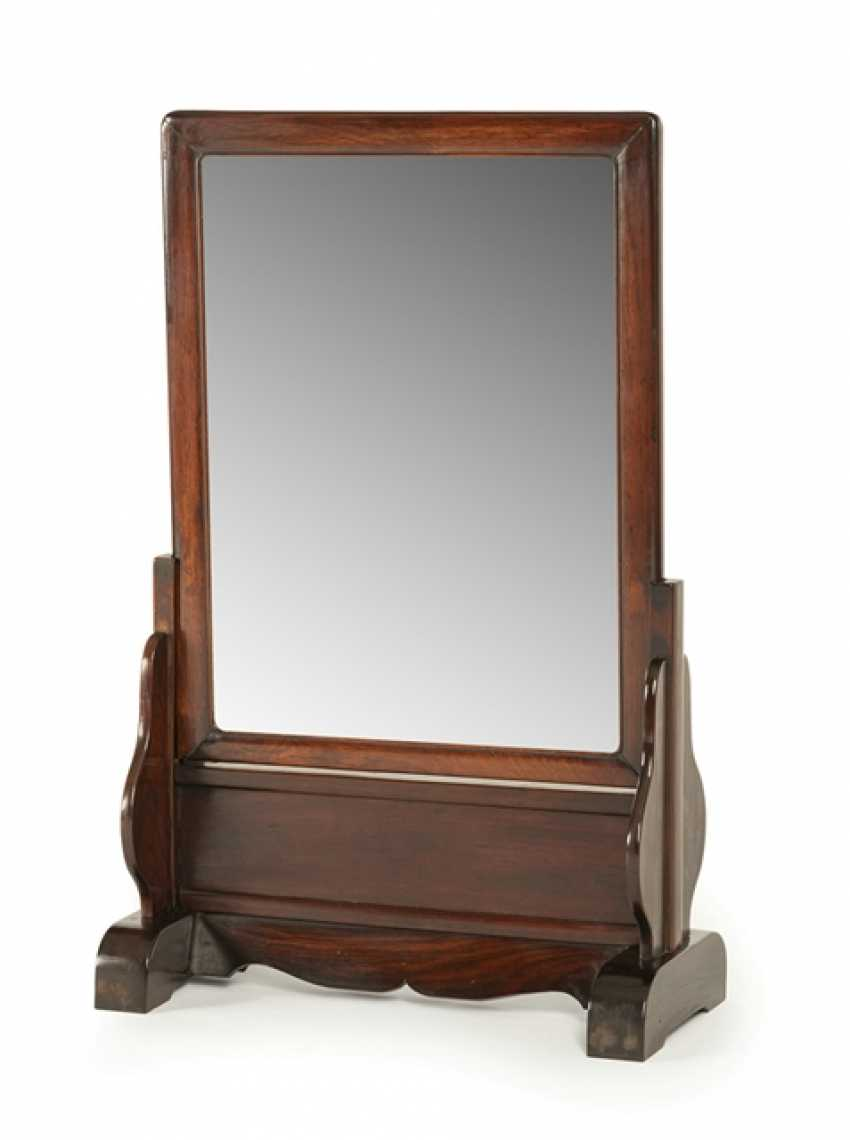 Mirror in wood frame with Stand from Hongmu - photo 1