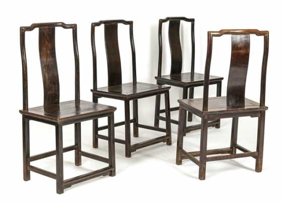 Four taught chairs made of hard wood - photo 1