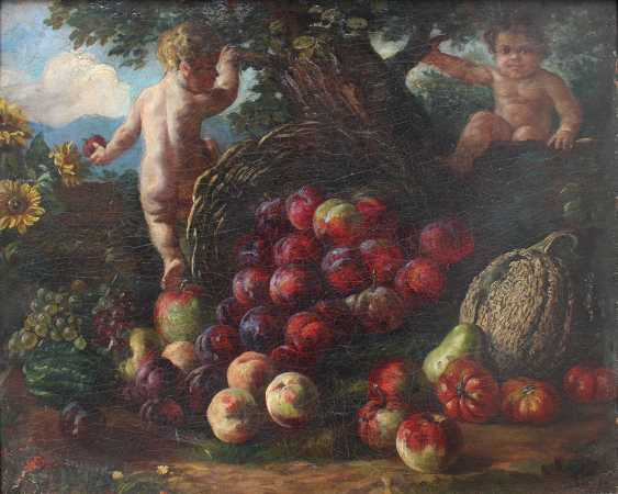 Jacob de Wit (1695-1754)-circle, Food basket with two children in landscape - photo 2