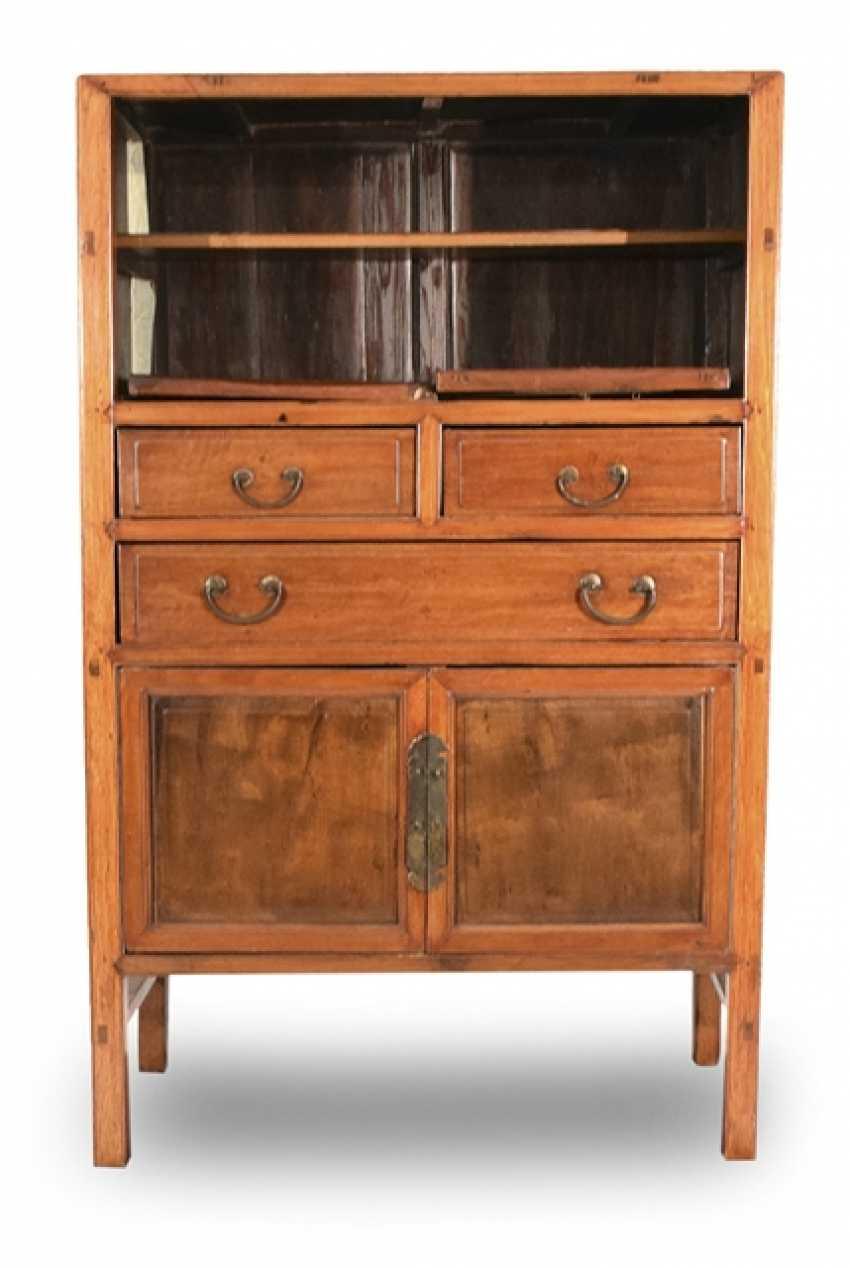 Two-door hardwood Cabinet with three relapses - photo 1