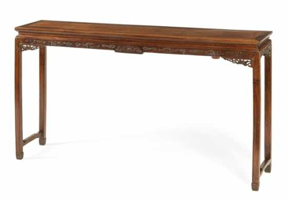 Altar table made of hard wood with floral carved sides and high legs, table and Stand - photo 1