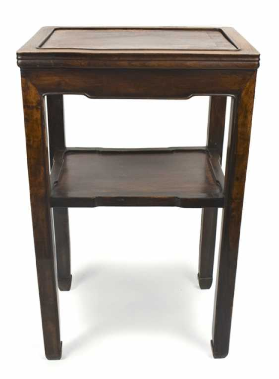 High Stand made of hard wood with carved frames and two stands - photo 1