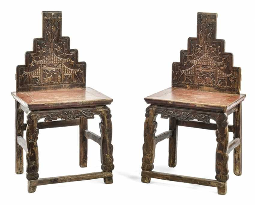 Couple of chairs with a tiered backrest - photo 1