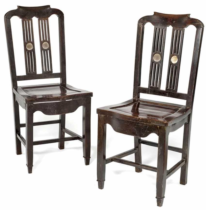 Pair Of Hardwood Chairs - photo 1