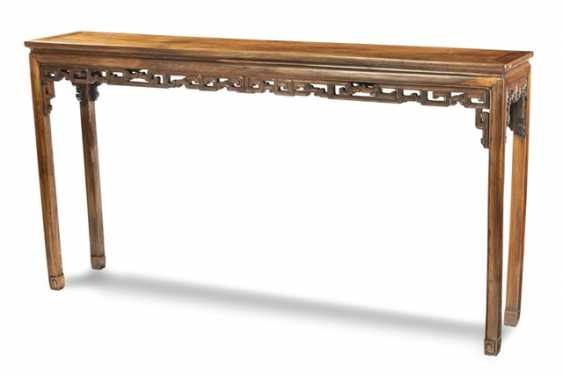 Altar table made of Hongmu with carved frame - photo 1