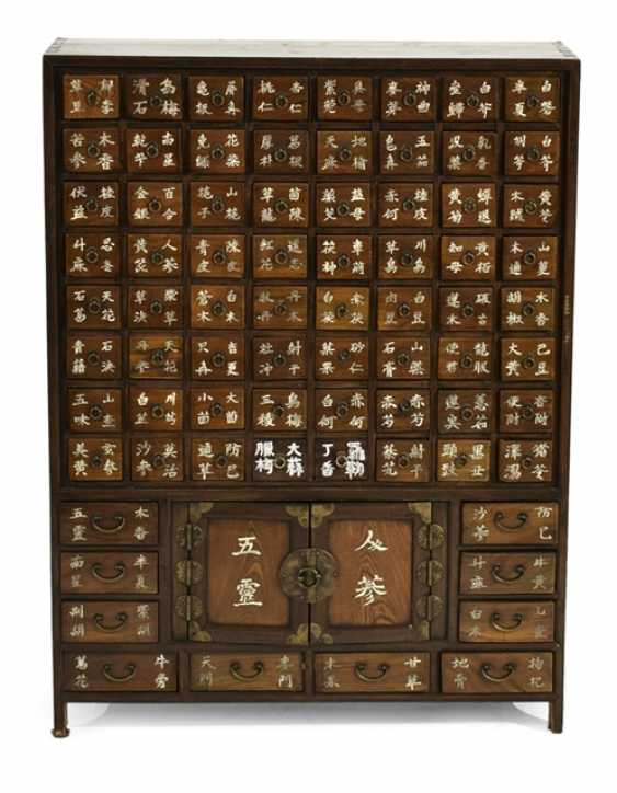 Two-door medicine Cabinet from wood with 74 drawers - photo 1