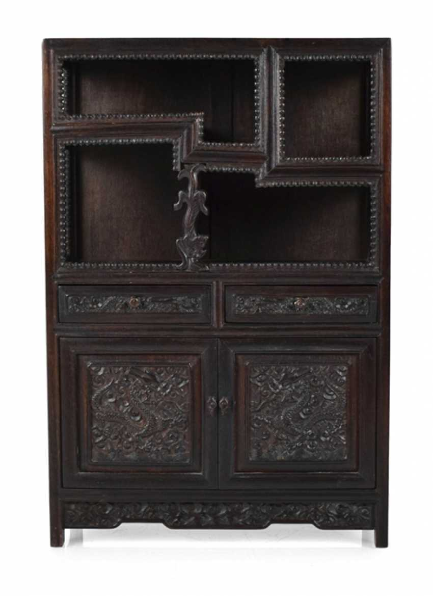 Small Cabinet made of hard wood with Display compartments - photo 1