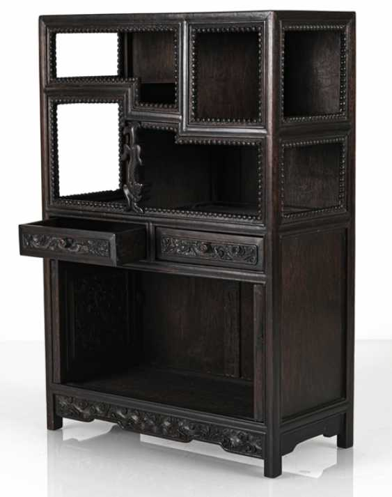 Small Cabinet made of hard wood with Display compartments - photo 2