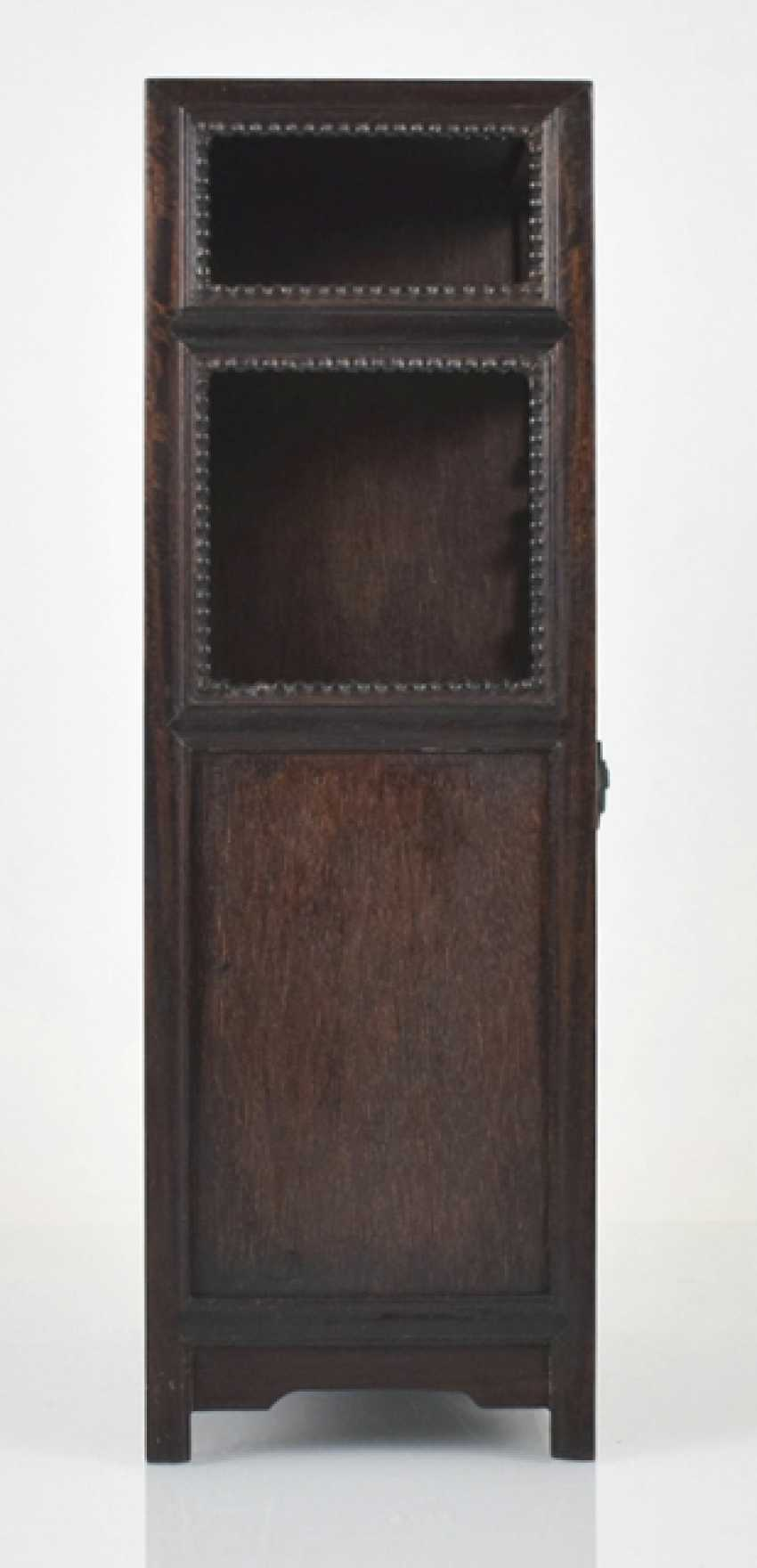 Small Cabinet made of hard wood with Display compartments - photo 5
