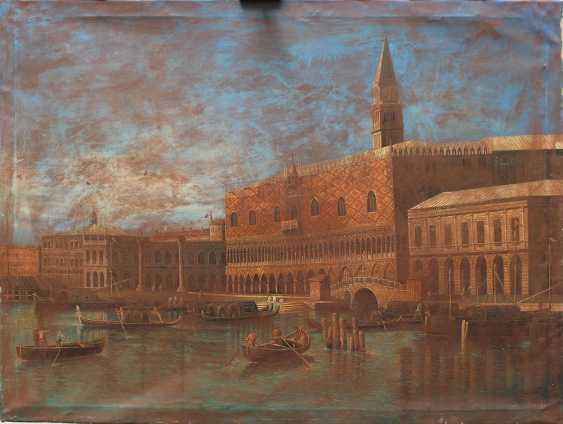 Apollonio Domenichini (1715-1770)-manner, Saint Marc Square with boats - photo 1