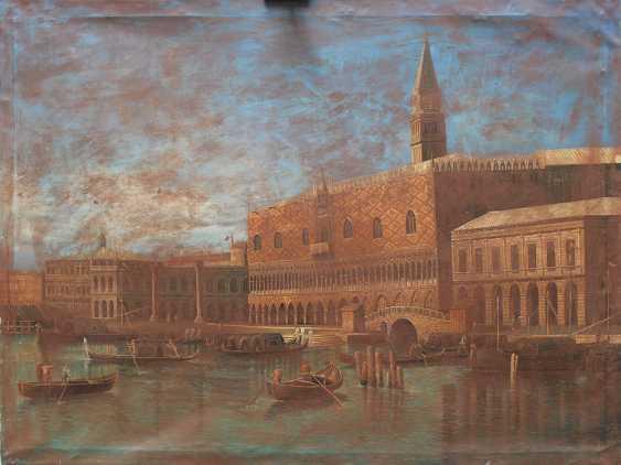 Apollonio Domenichini (1715-1770)-manner, Saint Marc Square with boats - photo 2