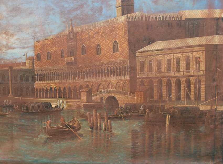 Apollonio Domenichini (1715-1770)-manner, Saint Marc Square with boats - photo 3