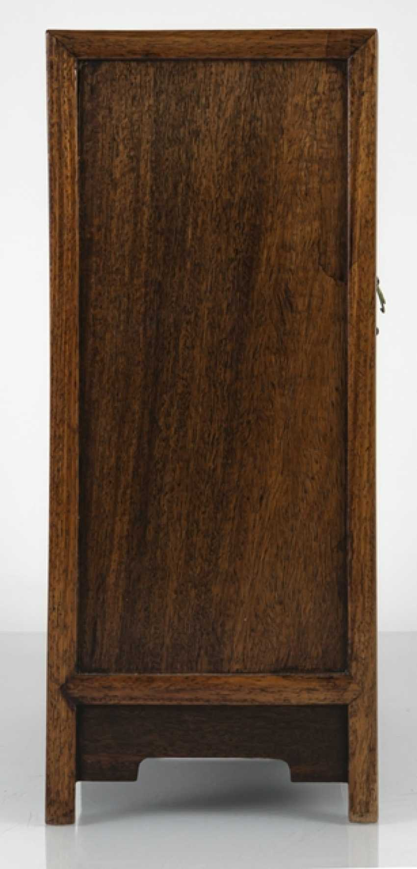 Small Cabinet made of hard wood with carved and seven relapses - photo 2