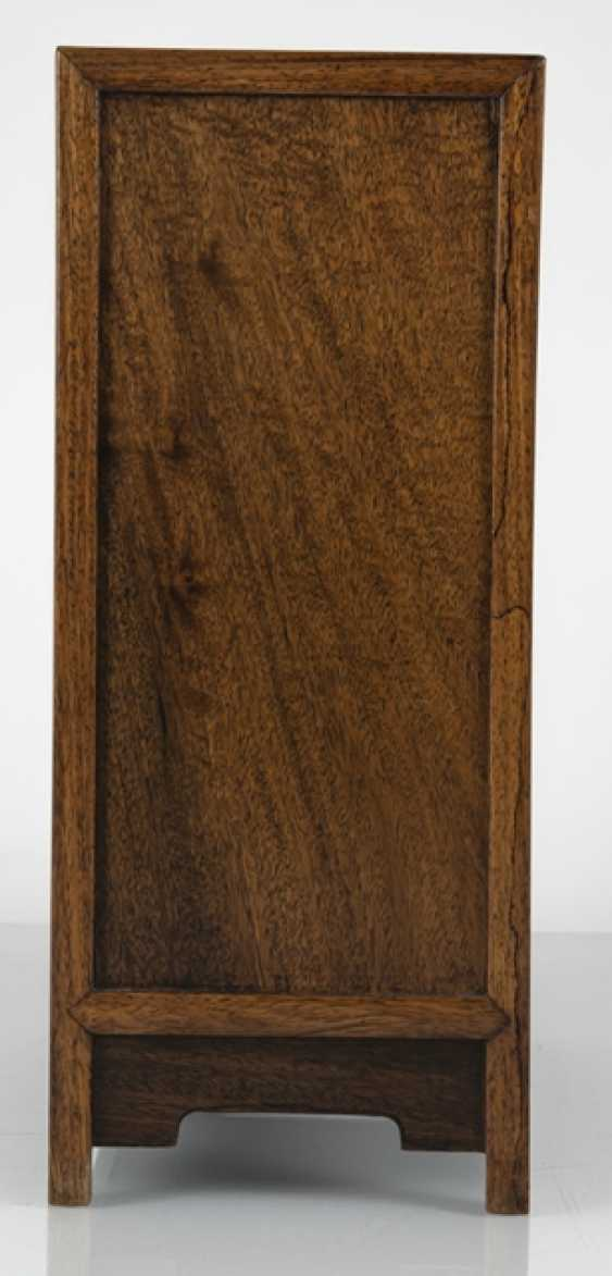Small Cabinet made of hard wood with carved and seven relapses - photo 5