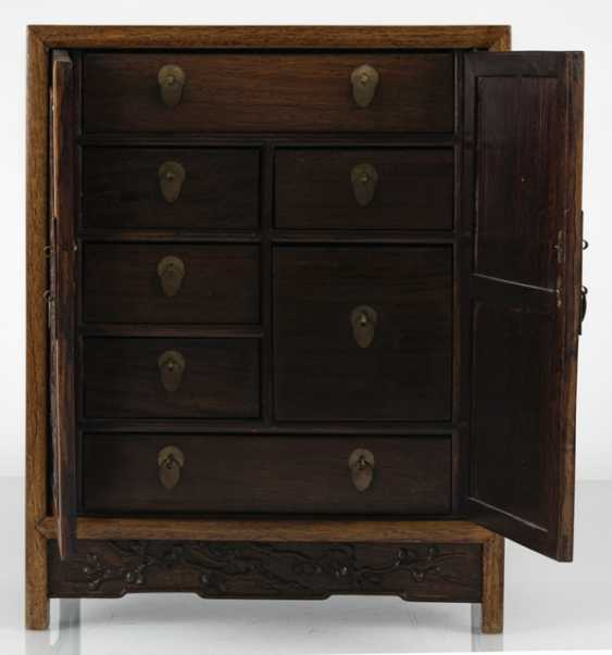 Small Cabinet made of hard wood with carved and seven relapses - photo 6