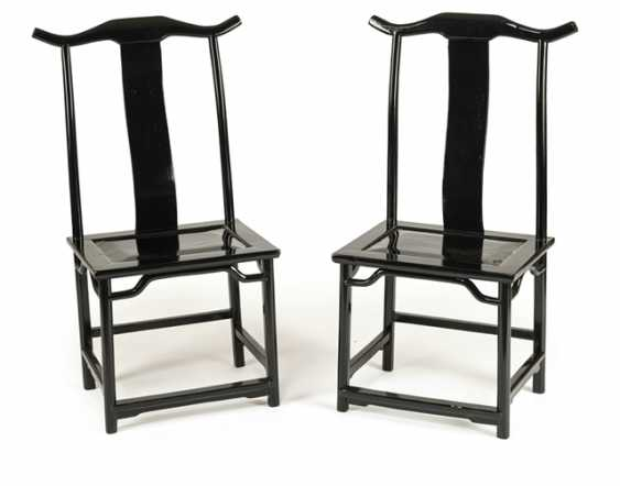 Pair of armchairs with black lacquer version - photo 1