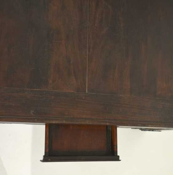 Flat hardwood table with four drawers - photo 3