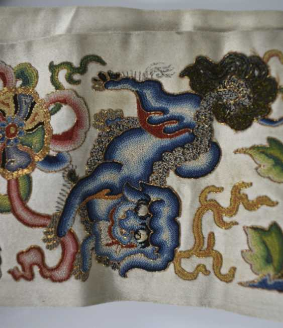 Two Pairs of sleeves stripes made from silk with fine embroidery - photo 2