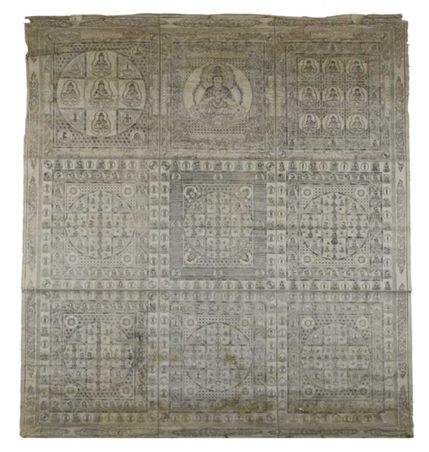 Textile with depiction of Buddhist deities - photo 1