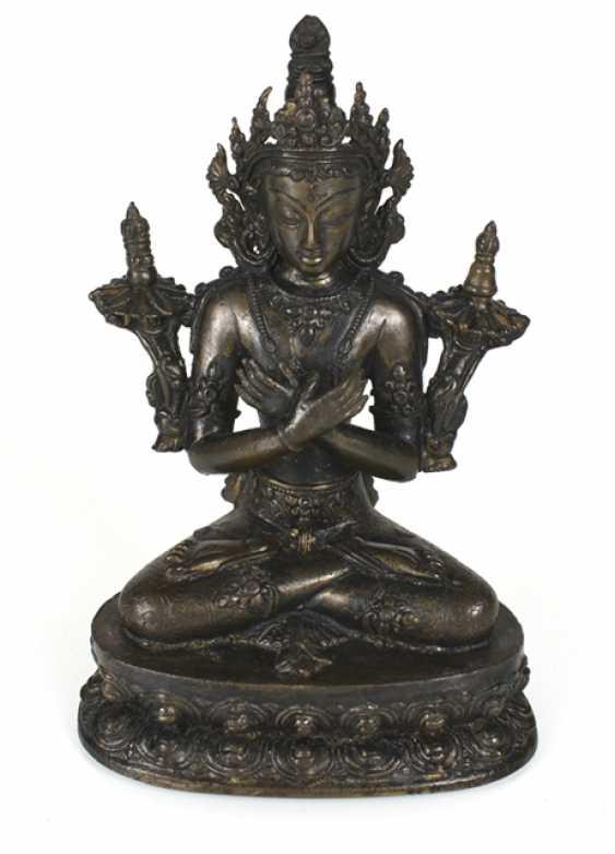 Bronzefigur des Vajradhara - photo 1