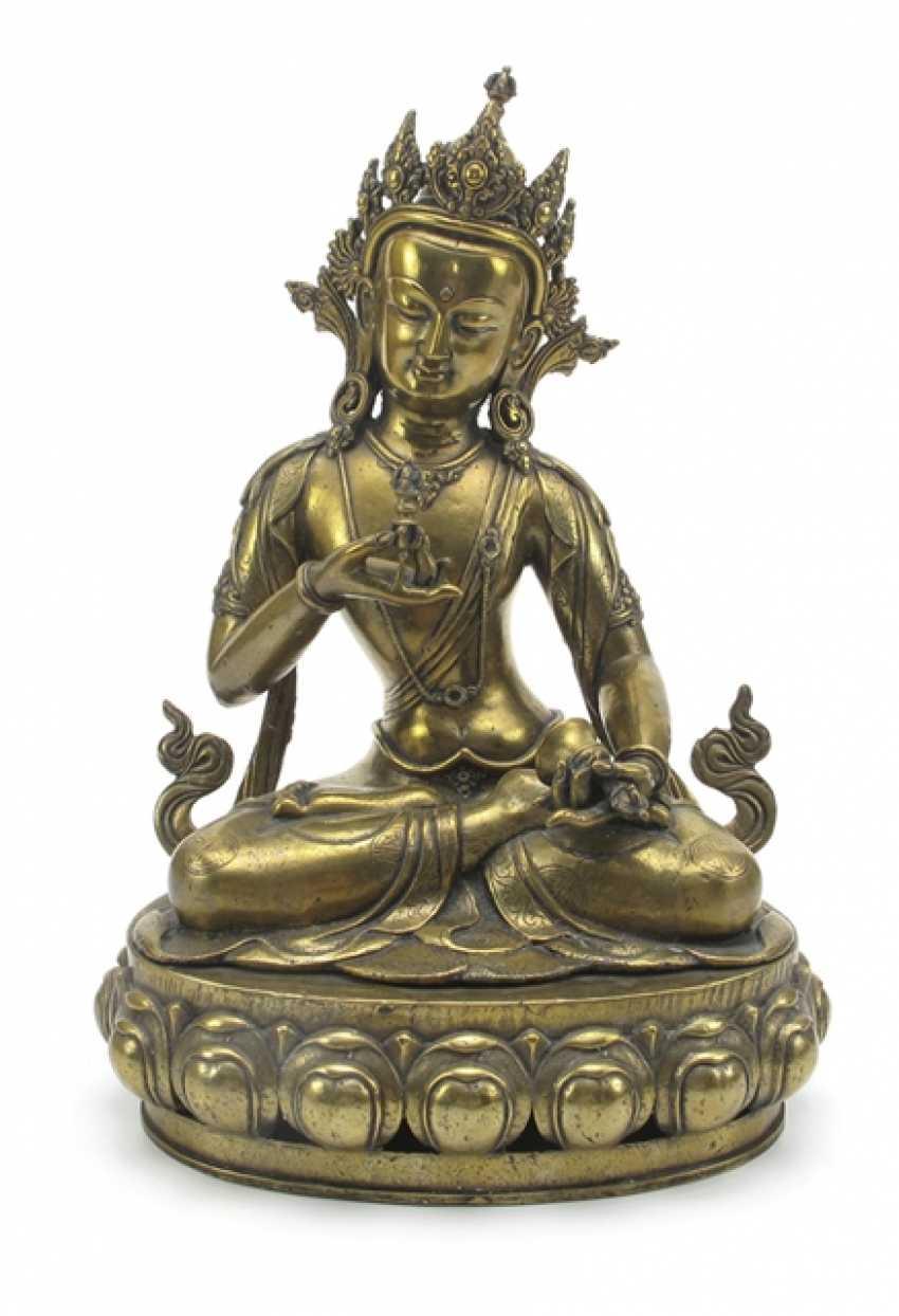 Fire-gilt Bronze of Vajrasattva - photo 1