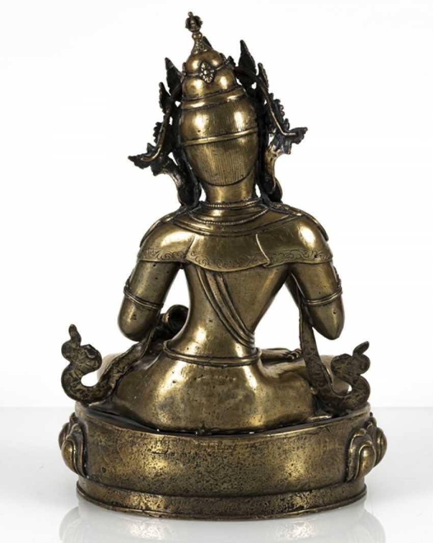 Fire-gilt Bronze of Vajrasattva - photo 4