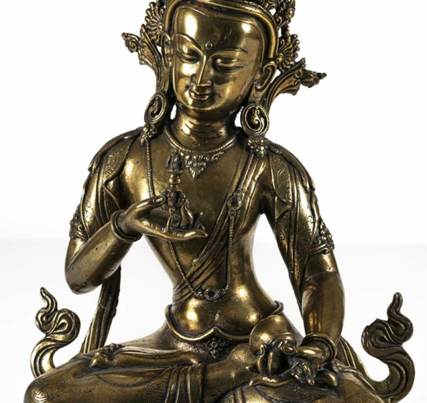 Fire-gilt Bronze of Vajrasattva - photo 7
