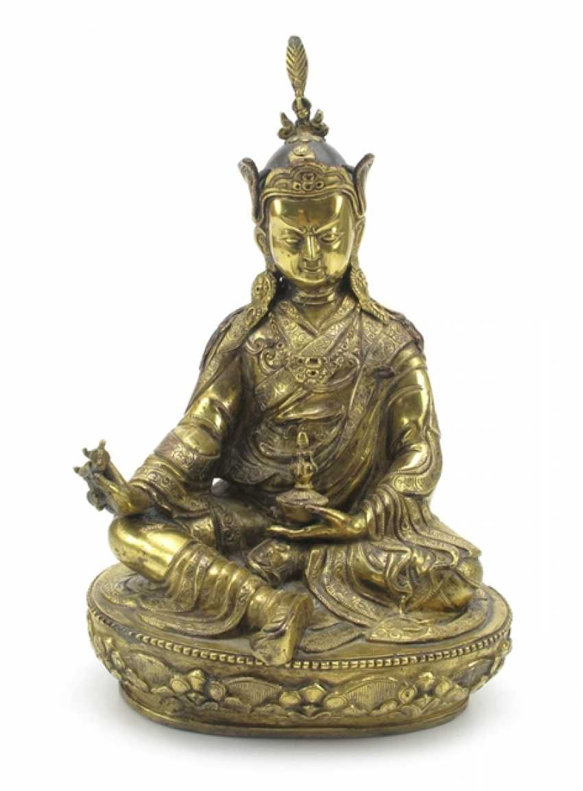 Fire-gilt Bronze of the Padmasambhava - photo 1