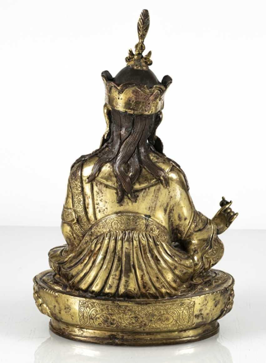 Fire-gilt Bronze of the Padmasambhava - photo 3