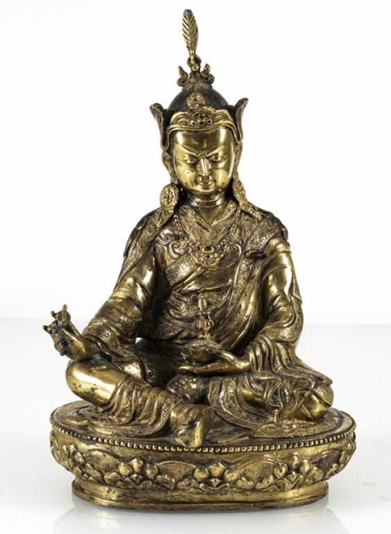 Fire-gilt Bronze of the Padmasambhava - photo 5