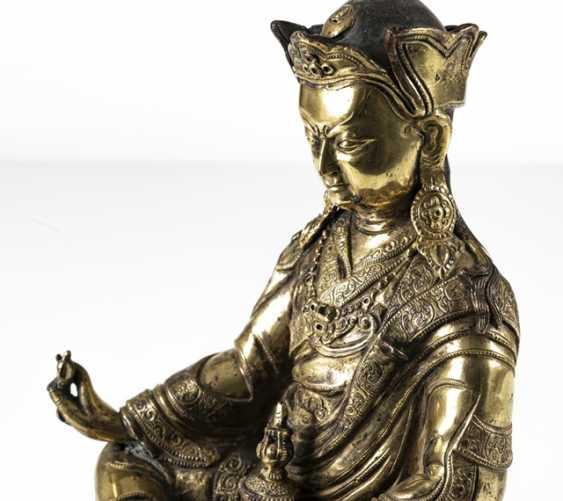Fire-gilt Bronze of the Padmasambhava - photo 6