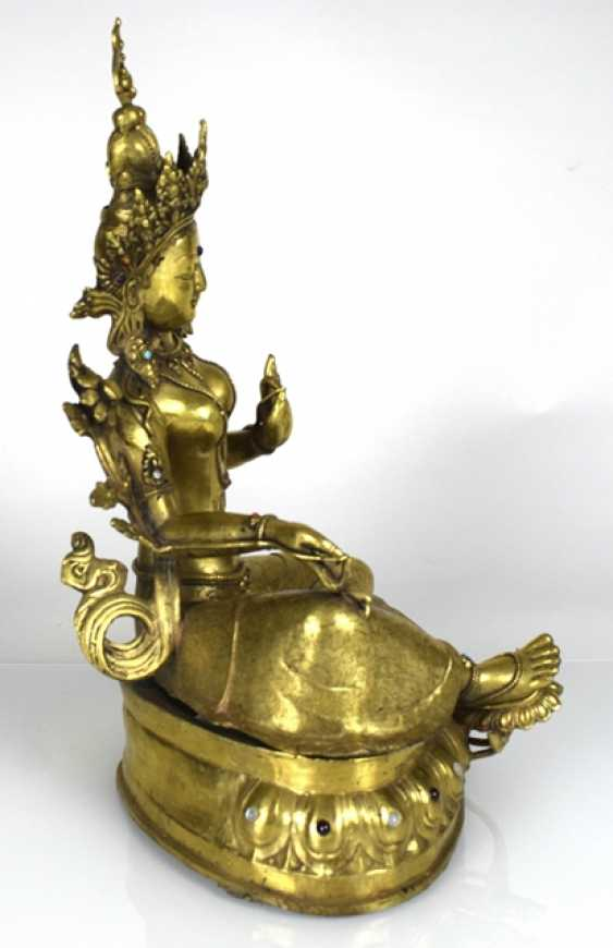 Bronze sculpture of the green Tara - photo 2