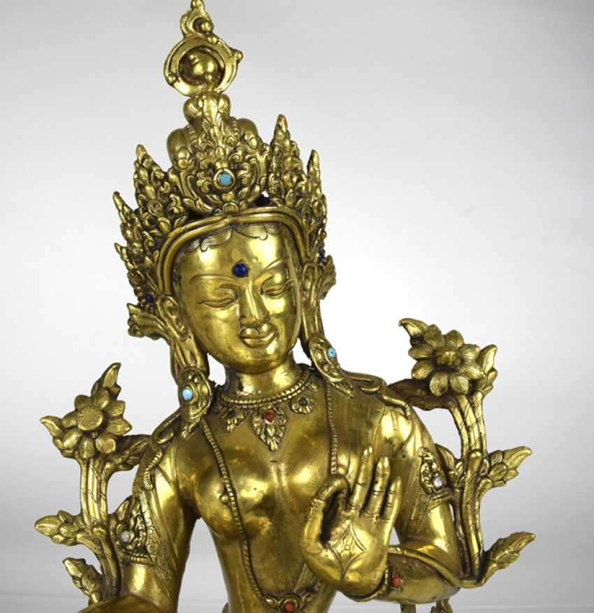 Bronze sculpture of the green Tara - photo 3