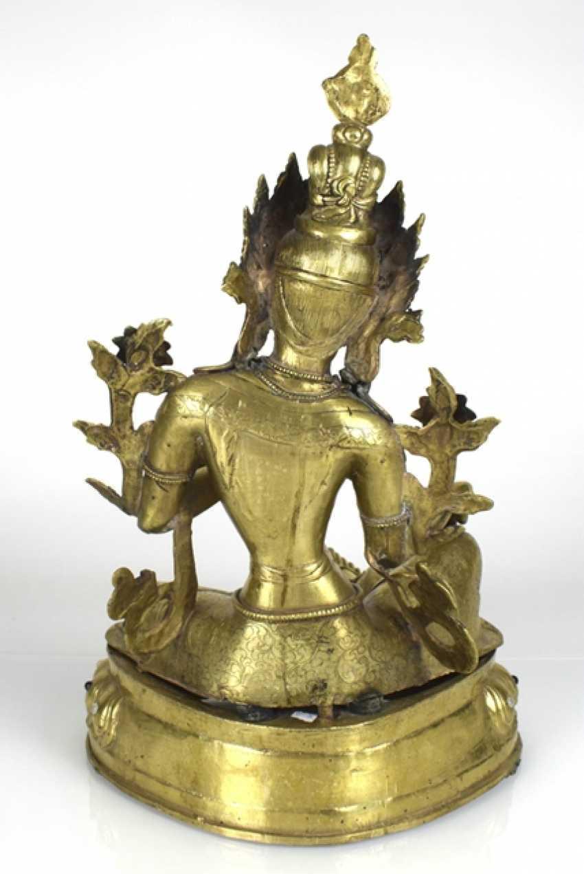 Bronze sculpture of the green Tara - photo 4